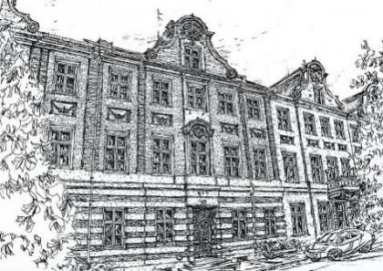 Wohnhaus Am Bassin 3, gezeichnet von Prof. Dr. Horst Römer, im Mai 2002